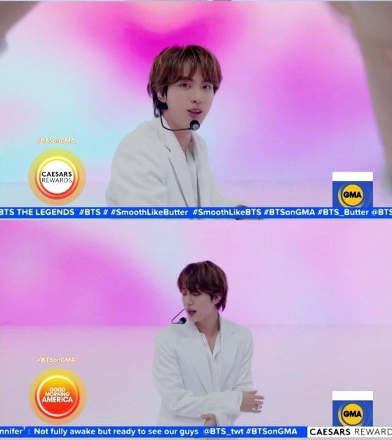 Jin en el concierto de GMA