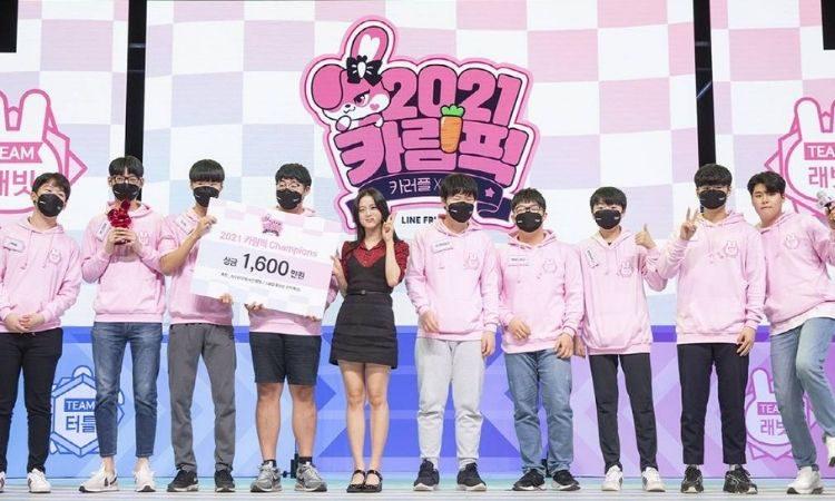Jisoo entregó el premio al equipo ganador