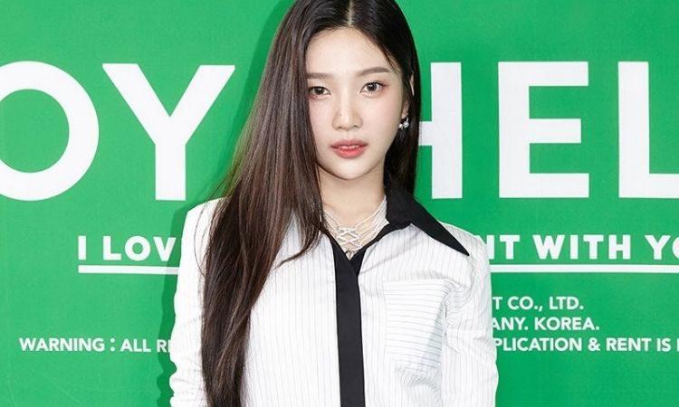 Joy de Red Velvet en conferencia de prensa de su álbum Hello