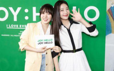 Joy y Wendy de Red Velvet en conferencia de prensa de Hello