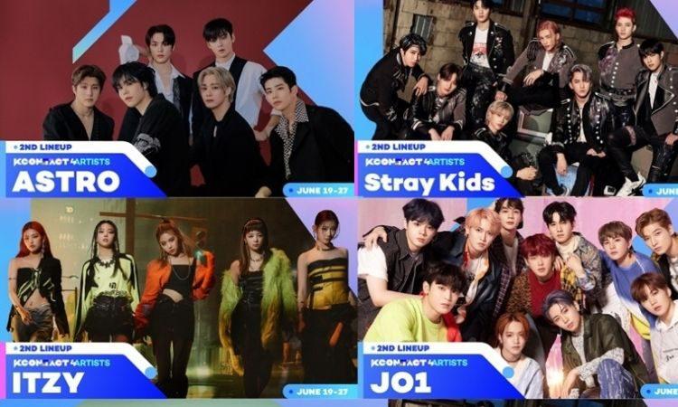 Astro, Stray Kids, Itzy y JO1 para el KCON:TACT 4U