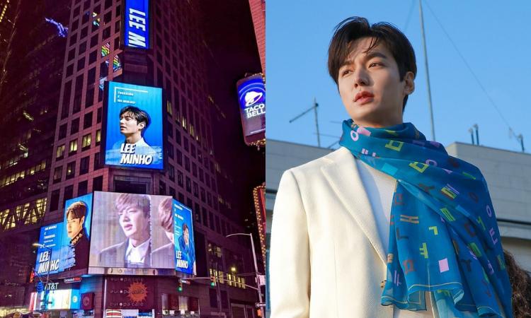 Lee Min Ho adorna el Times Square de Nueva York por su 15avo aniversario