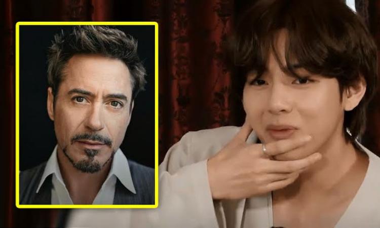 V de BTS genera caos en el grupo por no reconocer al actor Robert Downey Jr.