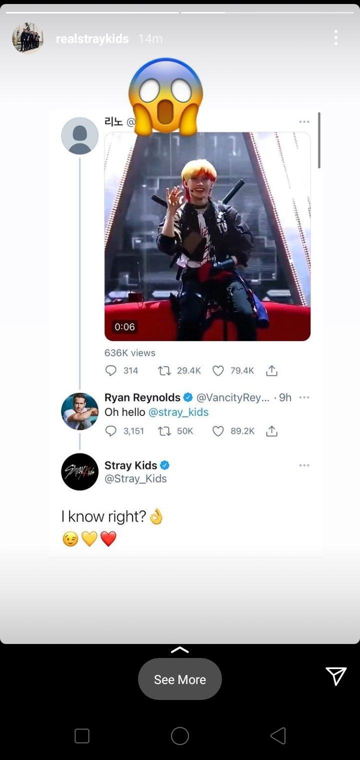 Ryan Reynolds responde a la actuación de Stray Kids en 'Kingdom'