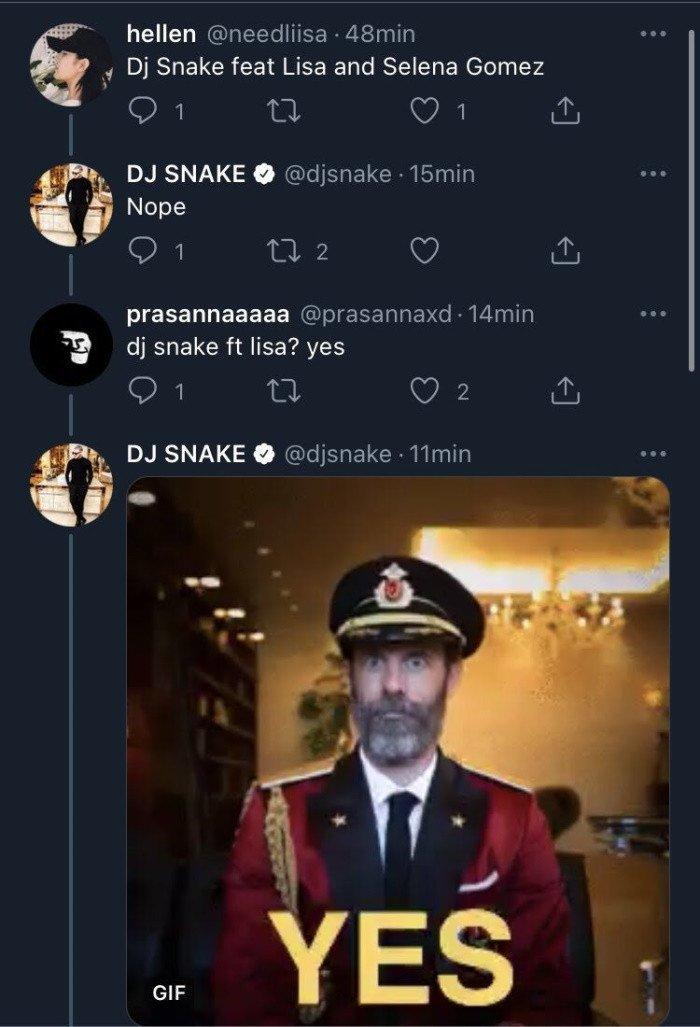 DJ Snake habla de su posible colaboración con Lisa de BLACKPINK