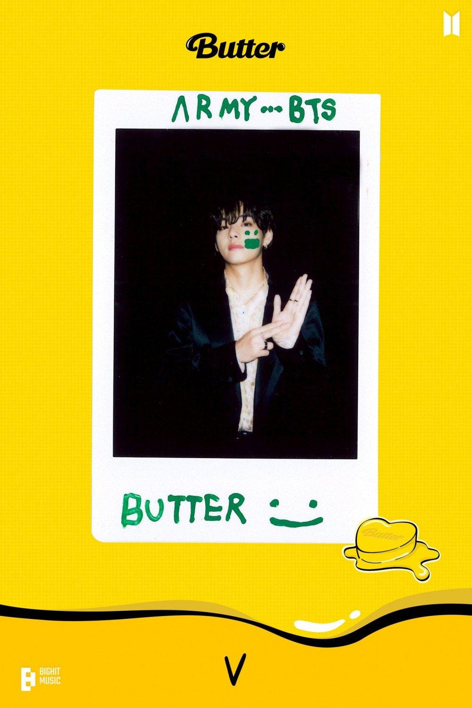 V de BTS promueve la inclusión en su linda photocard para 'Butter'