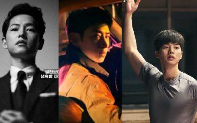 Posters de los drama Vincenzo, Taxi Driver y Navillera