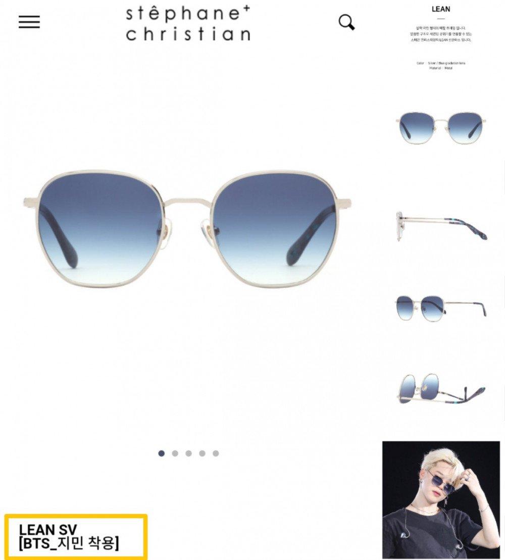 ¡Stephane Christian agregó el nombre Jimin en una de sus gafas después de usar su marca!