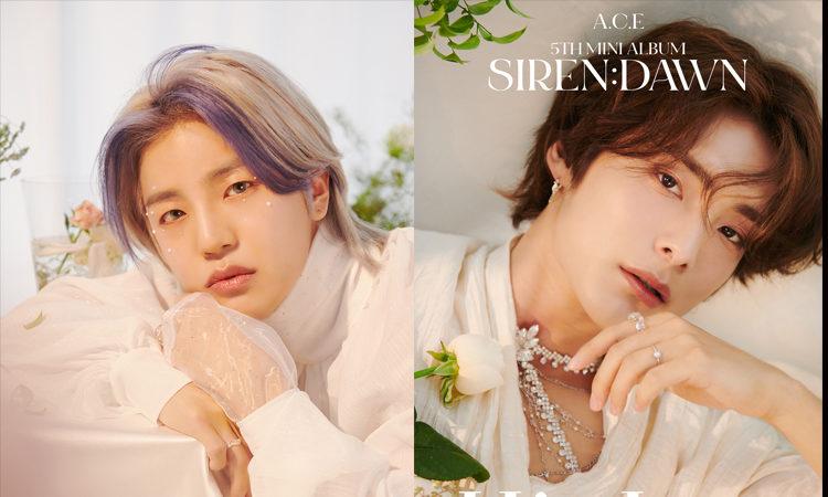 Donghun y Jun de A.C.E luce angelical para sus fotos concepto de Siren: Dawn