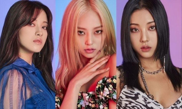 Seunghee, Yeeun y Seungyeon de CLC