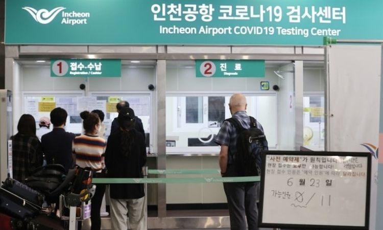 Toma de pruebas en Aeropuerto de Incheon