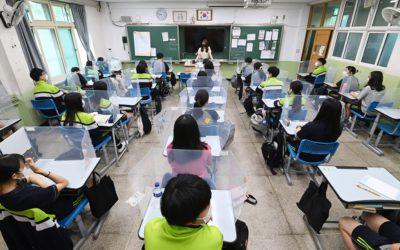 Asistencia a escuelas en Corea