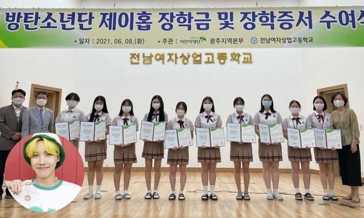 Beca J-Hope de BTS entregada