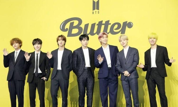 BTS en conferencia de prensa de Butter