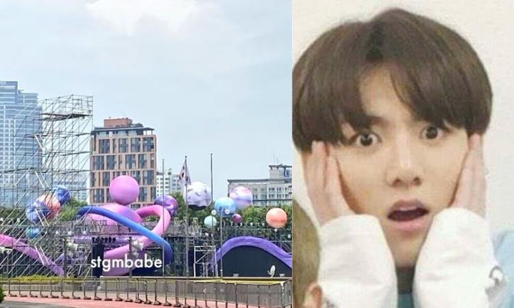 Se filtran fotos del escenario de BTS para el'2021 MUSTER, SOWOOZOO'