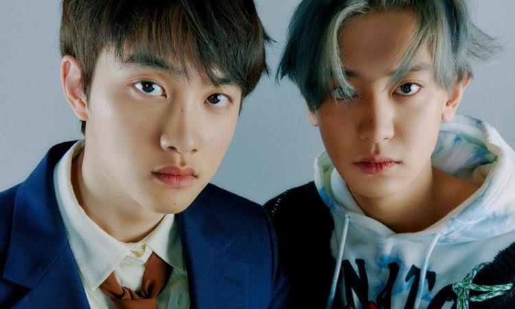 Chanyeol y D.O de EXO juguetean en sus nuevas fotos teaser para 'Don't Fight The Feeling'