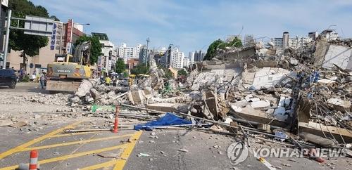 Colapsa un edificio en Gwangju y deja 9 muertos