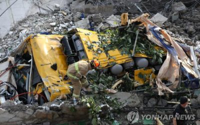 Publican videos del derrumbe de edificio que le quitó la vida a 9 personas en Gwangju