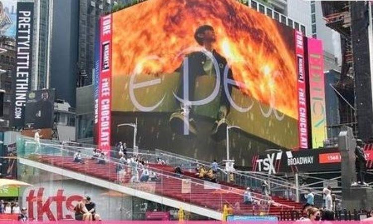 Panel publicitario de EPEX en Times Square