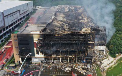 Incendio en sede de Coupang