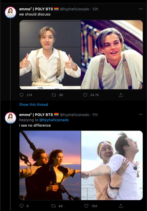 J-Hope de BTS podría ser el nuevo Leonardo DiCaprio en la vida de ARMY