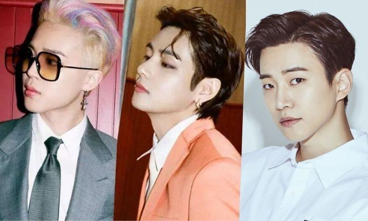 Jimin y V de BTS y Junho de 2PM