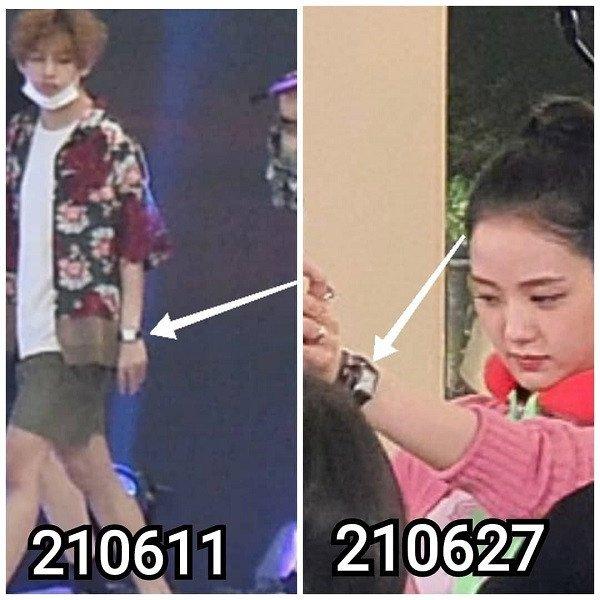 Netizens se preguntan por qué V de BTS y Jisoo de BLACKPINK parecen usar artículos de pareja