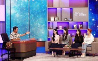 Lee Soo Man y aespa en SM CONGRESS 2021