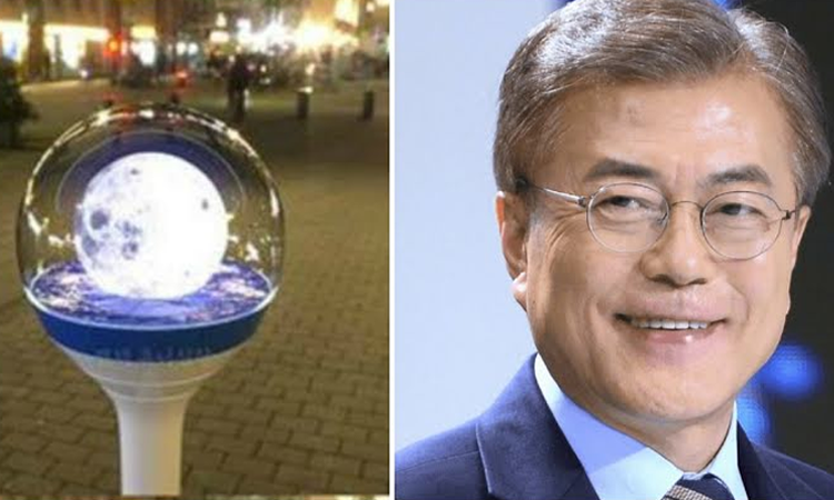 ¿Sabías que el presidente de Corea, Moon Jae In, tiene su propio lighstick?