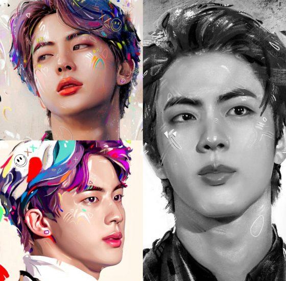 Retratos de Jin hechos por Kildren
