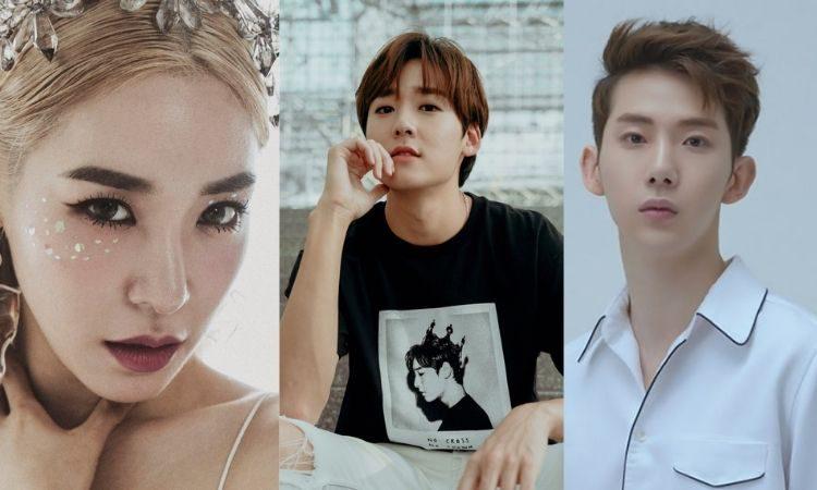 Tiffany Young, Kevin Woo y Jo Kwon de 2AM