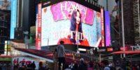 Panel publicitario de Tzuyu de Twice en Times Square