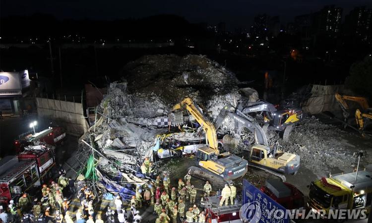 No se encuentran más víctimas mortales en derrumbe de edificio en Gwangju
