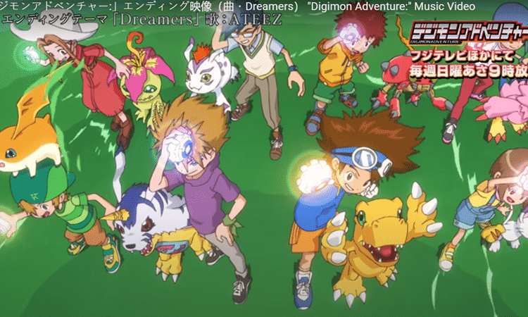 'Dreamers' de ATEEZ es el nuevo ending de 'Digimon Adventure'