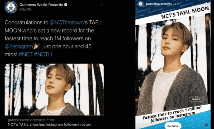 Taeil de NCT habre cuenta de Instagram y rompe un récord Guinness